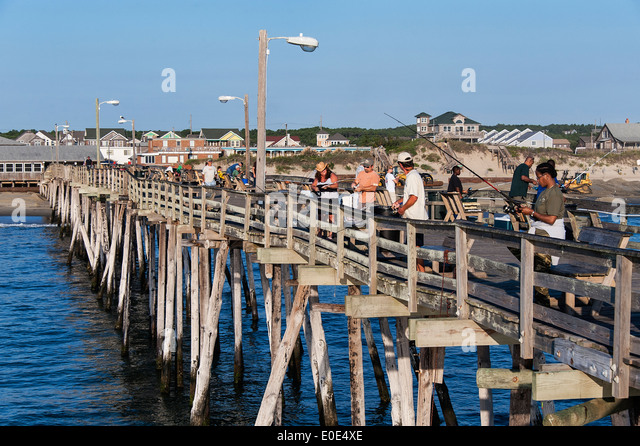 North carolina fishing stock photos north carolina for Atlantic city fishing pier