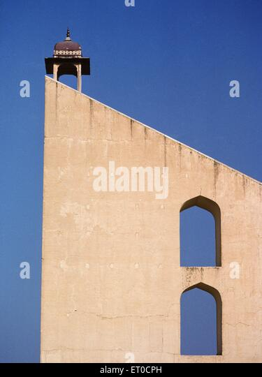 Samrat yantra sun dial in observatory jantar mantar ; Jaipur ; Rajasthan ; India - Stock Image
