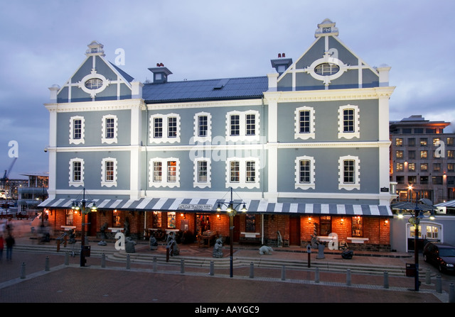 south africa cape town Victoria Albert waterfront historical habour office building - Stock Image