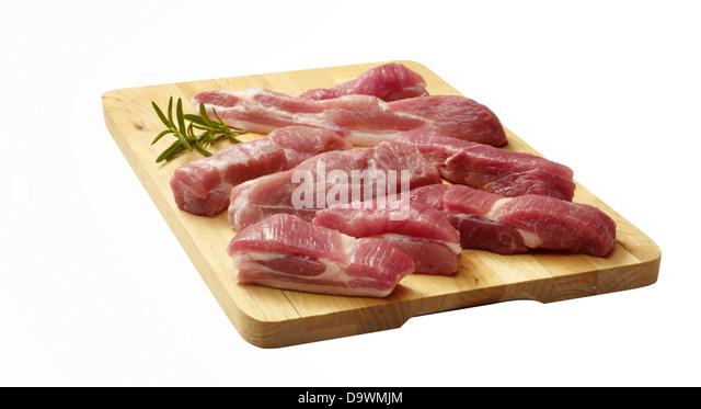 raw pork shoulder - Stock Image