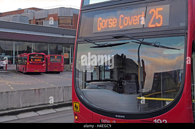 Gorse Covert 25 Bus at Warrington Interchange,Town Centre,WBC,Cheshire, England,UK - Stock Image