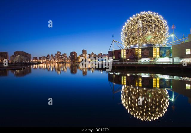 Telus Science World, on False Creek, Vancouver, British Columbia, Canada, North America - Stock Image