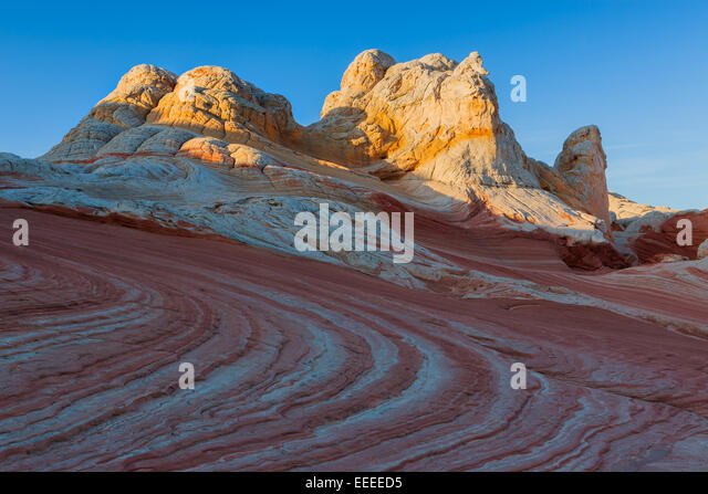 Rock formations in the White Pocket which is part of the Vermilion Cliffs National Monument. - Stock-Bilder