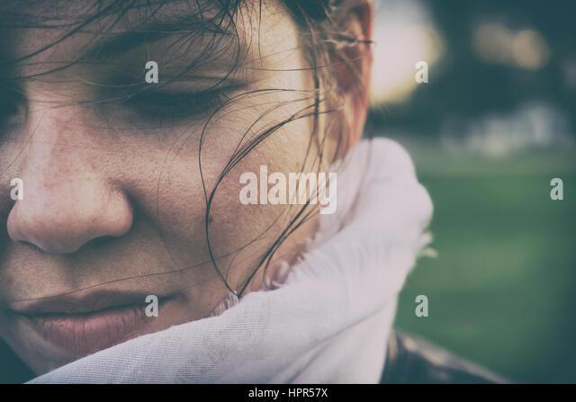 Sad woman concept - Stock Image