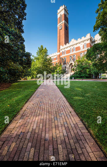 Campus of Vanderbilt University in Nashville, Tennessee. - Stock Image
