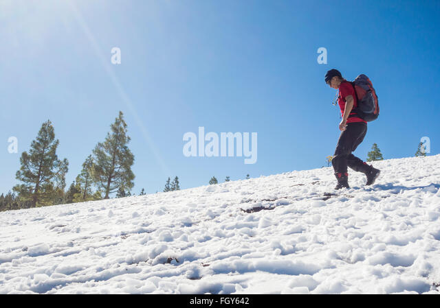 Knee deep snow stock photos knee deep snow stock images - Standing canarias ...