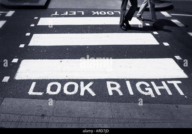 zebra crossing - Stock Image