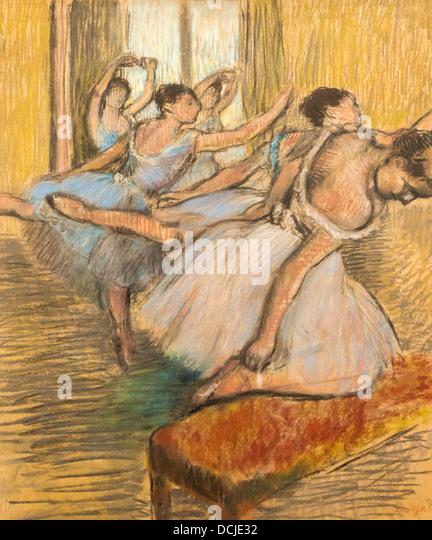 20th century  -  The Dancers, 1900 - Edgar DegasPhilippe Sauvan-Magnet / Active Museum - Stock Image