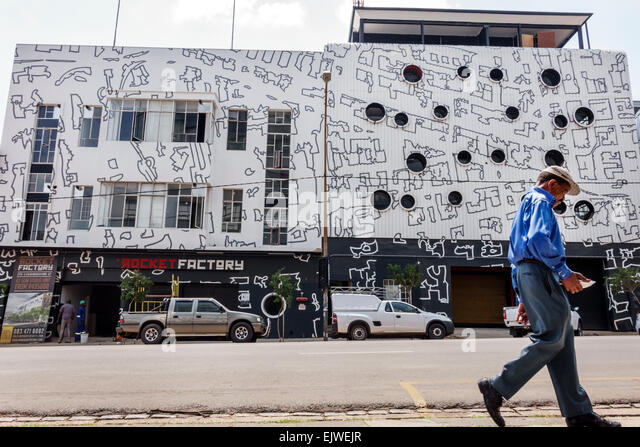 Johannesburg South Africa African Maboneng District Commissioner Street Arts on Main gentrified urban neighborhood - Stock Image