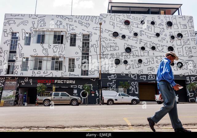 South Africa African Johannesburg Maboneng District Commissioner Street Arts on Main gentrified urban neighborhood - Stock Image
