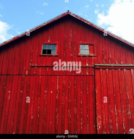 Barn In Res Coat. - Stock Image