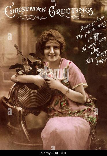 UK Illustrations Postcard - Stock Image