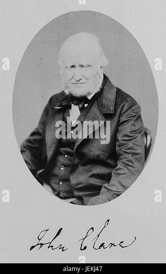JOHN CLARE (1793-1864) English rural poet. The only know photo of him was taken by W.W.Law of Northampton in 1862, - Stock-Bilder