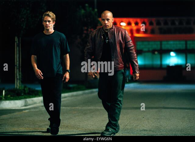 The Fast and the Furious ; Year : 2001 USA ; Director : Rob Cohen ; Paul Walker, Vin Diesel ; Photo: Bob Marshak - Stock Image