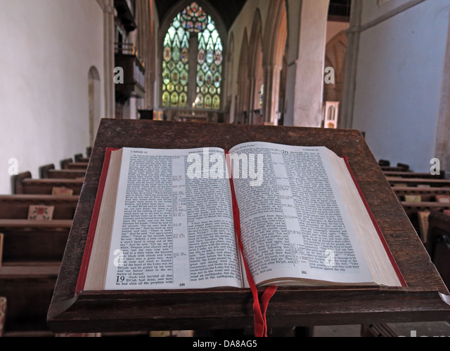 Beautiful Dorchester On Thames Abbey Church of St Peter & St Paul, view from the bible - Stock Image