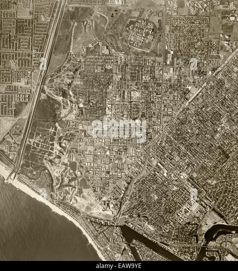 historical aerial photograph Costa Mesa, 1972 - Stock Image