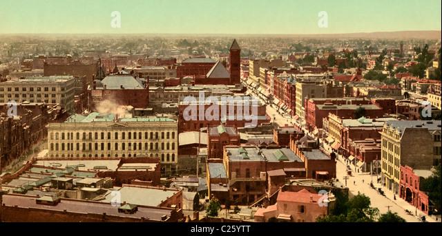 Panorama of Los Angeles, California circa 1900 - Stock-Bilder