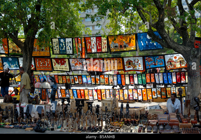 Maputo Crafts Market, Mozambique, East Africa, Africa - Stock Image