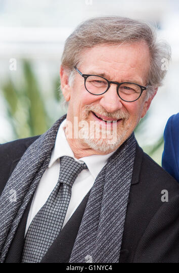 Cannes, France. 15th May, 2016. Steven Spielberg Director The Bfg, Photocall. 69 Th Cannes Film Festival Cannes, - Stock Image