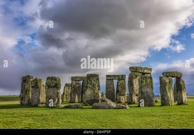 Stonehenge, prehistoric stones, Dorset, England, UK. - Stock Image