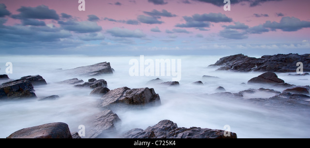 long exposure seascape with blurred water - Stock Image