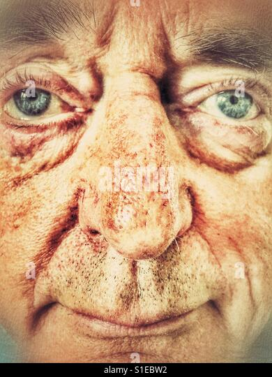 Senior man, portrait - Stock Image