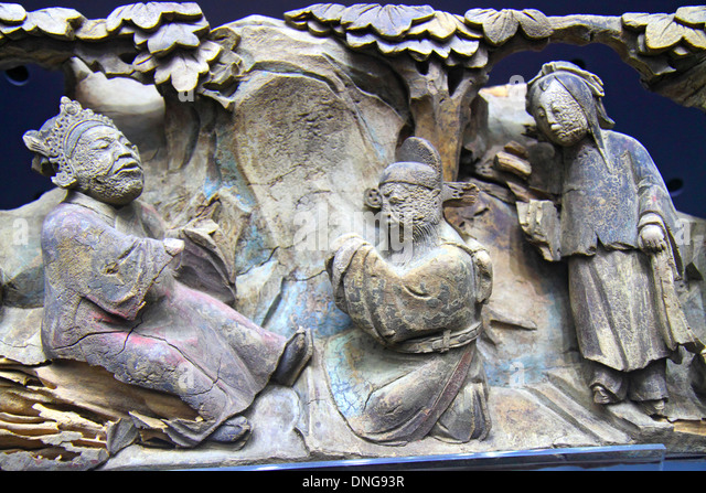 Hong Kong China Kowloon Tsim Sha Tsui Kowloon Park Hong Kong Heritage Discovery Centre museum exhibit gallery sculpture - Stock Image