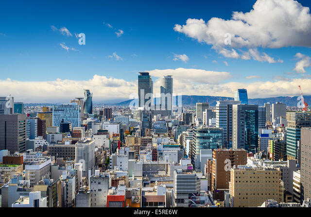 Nagoya, Japan downtown skyline. - Stock Image