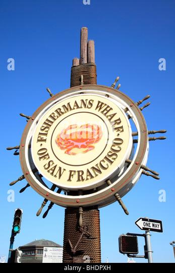 Fishermans Wharf San Francisco - Stock Image