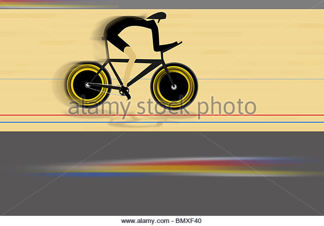 Illustration of cyclist - Stock Image