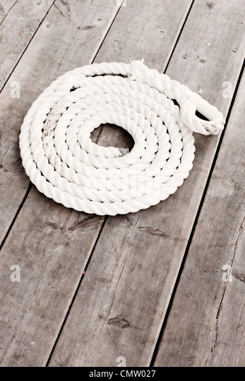 High angle view of rope - Stock Image