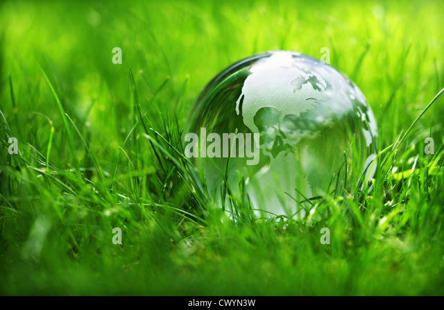 Green planet - Stock Image