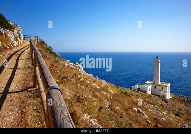 Cape Palascia, commonly known as Capo d´Otranto, is Italy´s most easterly point. It is situated in the - Stock Image