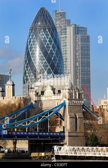 Modern buildings on the City of London skyline - Stock Image