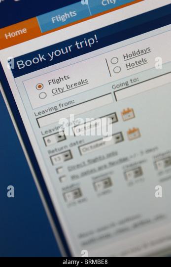 online booking travel trip - Stock-Bilder
