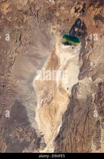 Natural-color image of the north end of the Suguta Valley in Kenya. - Stock Image