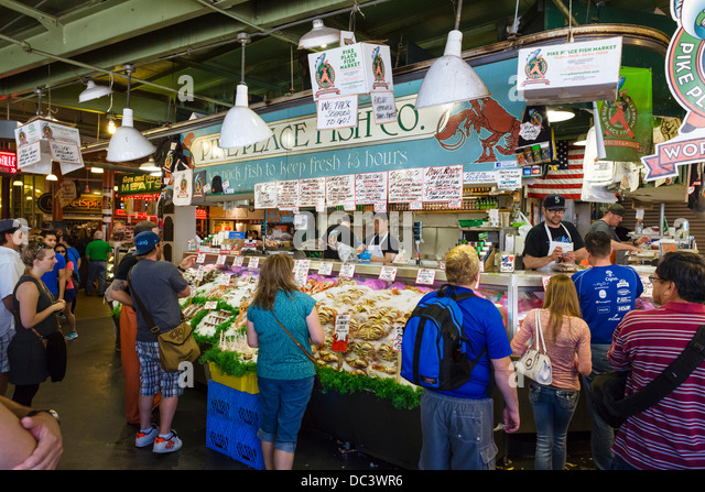 Fish market usa stock photos fish market usa stock for Famous fish market in seattle