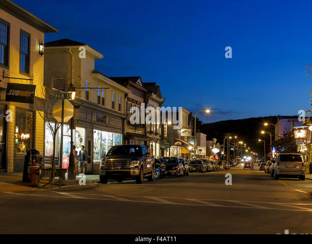 Main Street America Usa New England Stock Photos Main