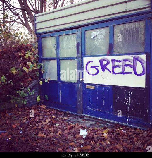 Greed - Stock Image