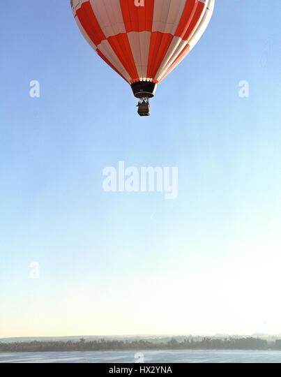Hot air balloon over lake,  Orlando,  Florida - Stock Image
