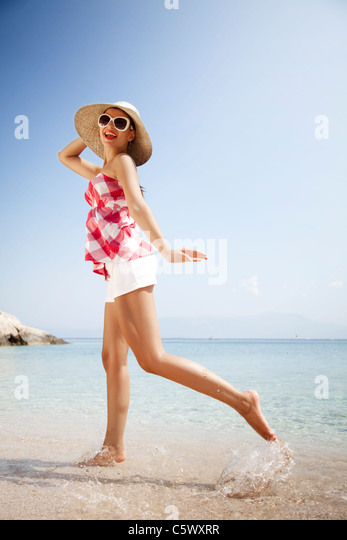 summer happiness - Stock Image