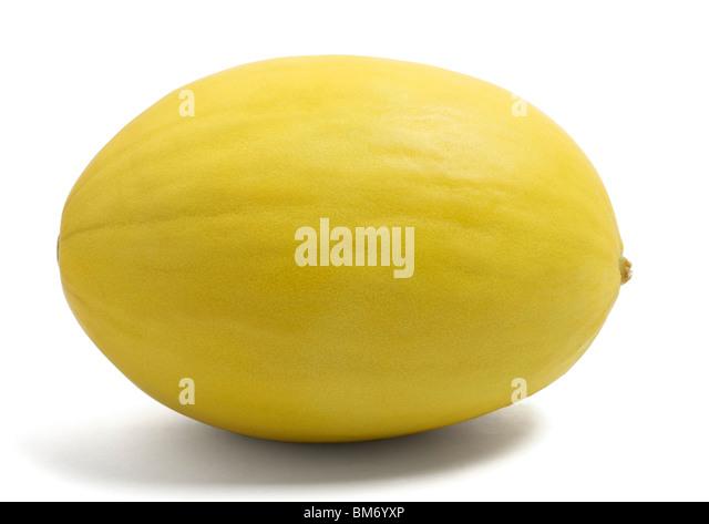 Honeydew melon on white background - Stock Image