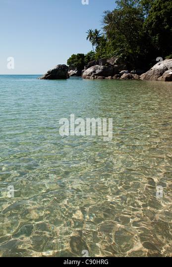 Peaceful scene of sea and coast, Perhentian Besar, Perhentian Islands, Malaysia - Stock Image