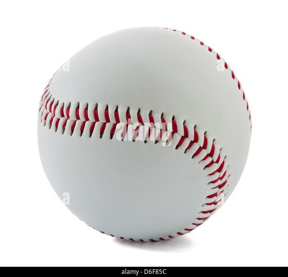 Baseball ball on the white background - Stock Image