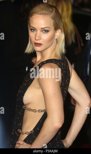 London, UK. 5th November, 2015. Jennifer Lawrence attending The Hunger Games: Mockingjay Part 2 - UK Premiere at - Stock Image