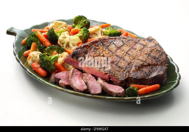 steak sesame - Stock Image