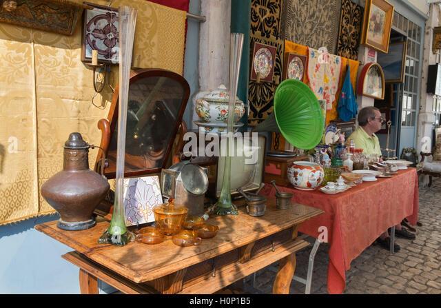 Feira da Ladra Thieves' Market Lisbon Portugal - Stock Image