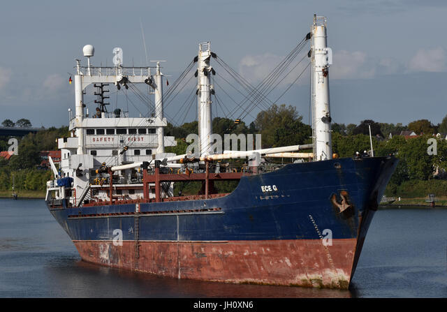 General Cargo Ship Ece G - Stock Image