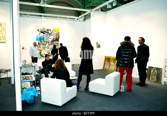 Paris, France, People Visiting Annual Contemporary Arts Show, FIAC, Trade Show in 'Grand Palais' - Stock-Bilder