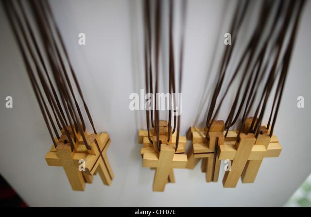 Catholic crosses, Macau, China, Asia - Stock Image